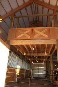 A loft view of a barn built by Spane Buildings in Lynden WA