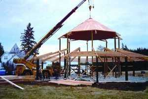A new barn going up in Puyallup WA by Spane Buildings