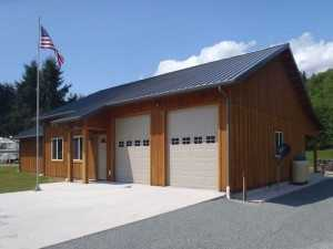 A Spane Buildings post frame home in King County WA