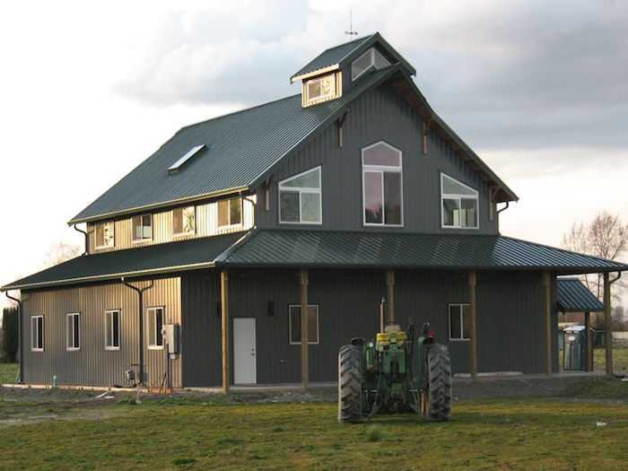 Homes pole barn builder specializing in post frame buildings for Barn frame homes