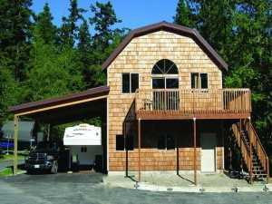 A Spane Buildings post frame home in Pierce County WA