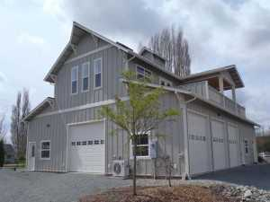 A Spane Buildings post frame home in Skagit County