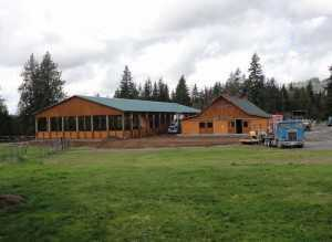 An arena and equestrian facility built by Spane Buildings in Pierce County WA