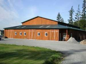 An arena built by Spane Buildings the finest stable builder in Whatcom County WA