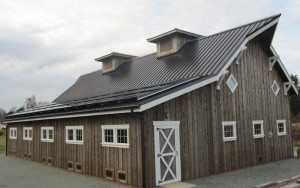 Another angle of a barn built by Spane Buildings in Mt. Vernon WA