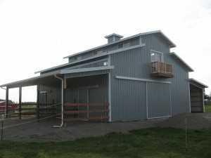 Barn built by Spane Buildings in Bellingham WA