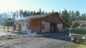 Barn built by Spane Buildings in Gig Harbor WA