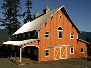 Barn built by Spane Buildings in King County WA