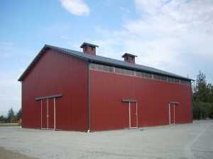 Barn built by Spane Buildings in Lake Stevens WA
