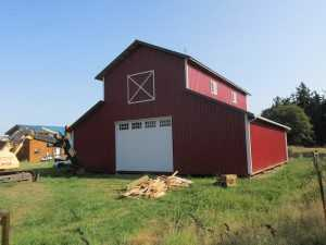 Barn built by Spane Buildings in Langley WA