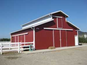 Barn built by Spane Buildings in Maple Valley WA