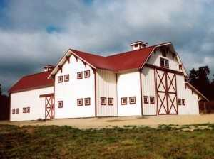 Barn built by Spane Buildings in Pierce County WA