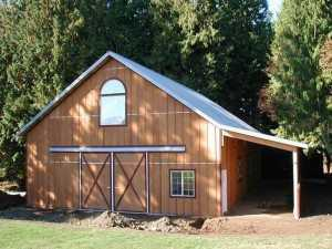 Barn built by Spane Buildings in Puyallup WA