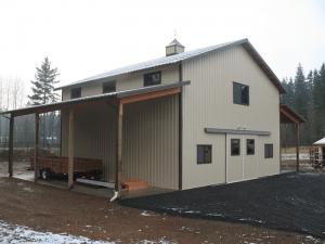 Barn built by Spane Buildings in Renton WA
