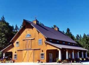 Barn built by Spane Buildings on Whidbey Island WA