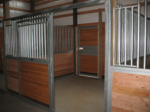 Doors to a barn by Spane Buildings in Skagit County WA