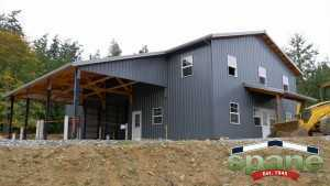 Spane Buildings post frame commercial building on Orcas Island WA