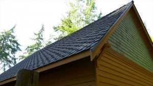 Spane Buildings garage reroof in Camano Island WA back view