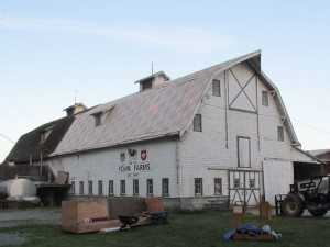 A barn reroof by the spane buildings roofing team before