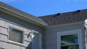 Close Up view of a reroof by Spane Buildings on Camano Island WA