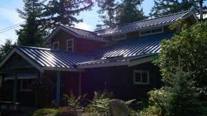 Custom reroof by Spane Buildings on Camano Island WA