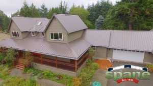 Spane Buildings metal reroof in Woodinville WA