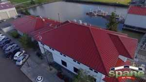 Spane Buildings reroof Bellingham WA looking down