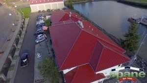 Spane Buildings reroof in Bellingham WA right side looking down