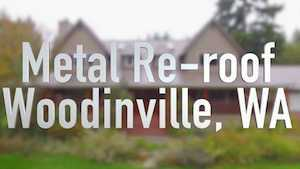 Spane Buildings metal reroof Woodinville WA video thumbnail
