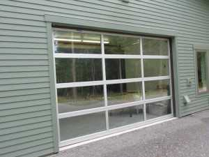 A door to the Wulff Hobby Garage on Orcas Island WA by Spane Buildings