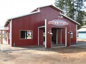 A new barn built by Spane Buildings in Mt. Vernon WA