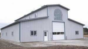 A new pole garage built by Spane Buildings in Skagit County Washington