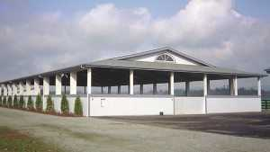 A pole arena built by Spane Buildings in Washington State