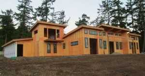 A pole buildings home built by Spane Buildings in Snohomish County Washington State
