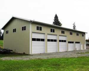 A pole garage built by Spane Buildings in Snohomish County