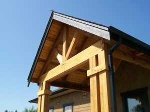 A post frame accent built by Spane Buildings in Mt Vernon WA