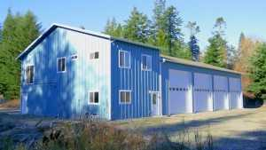 A Spane Buildings pole building garage in Skagit County Washington