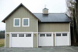 A Spane Buildings post frame home in Redmond WA
