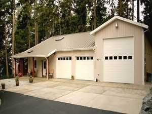 A Spane Buildings post frame home in Snohomish County WA
