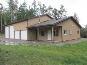 A Spane Buildings post frame home in Whatcom County WA