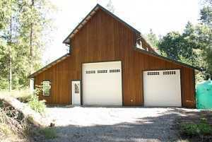 A stunning two bay pole garage by Spane Buildings in Washington State