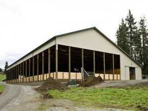 An arena and horse barn built by Spane Buildings in Puyallup Wa