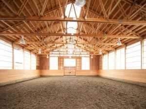 An arena built by Spane Building the stable builders in Redmond Washington