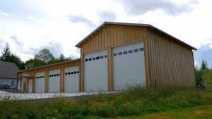 Another custom garage built by Spane Buildings in Snohomish WA