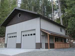 Another garage built by Spane Buildings in Alger WA