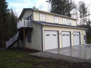 Another garage built by Spane Buildings in Arlington WA
