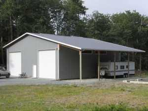 Another garage built by Spane Buildings in Island County WA
