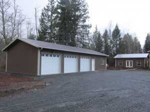 Another garage built by Spane Buildings in Mt. Vernon WA