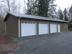 Another garage built by Spane Buildings in Puyallup WA