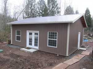 Another garage built by Spane Buildings in Skagit County